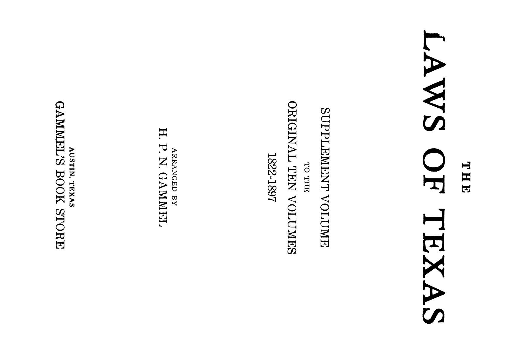 The Laws of Texas, 1929-1931 [Volume 27]                                                                                                      [Sequence #]: 1 of 1943