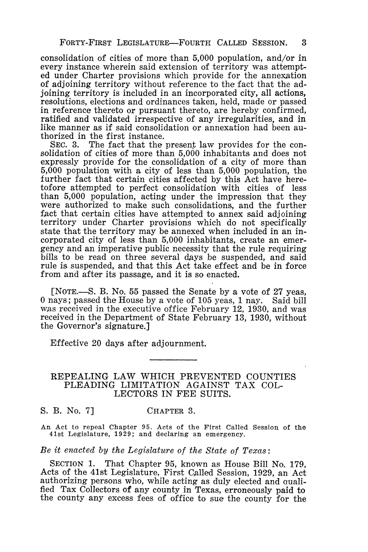 The Laws of Texas, 1929-1931 [Volume 27]                                                                                                      [Sequence #]: 15 of 1943