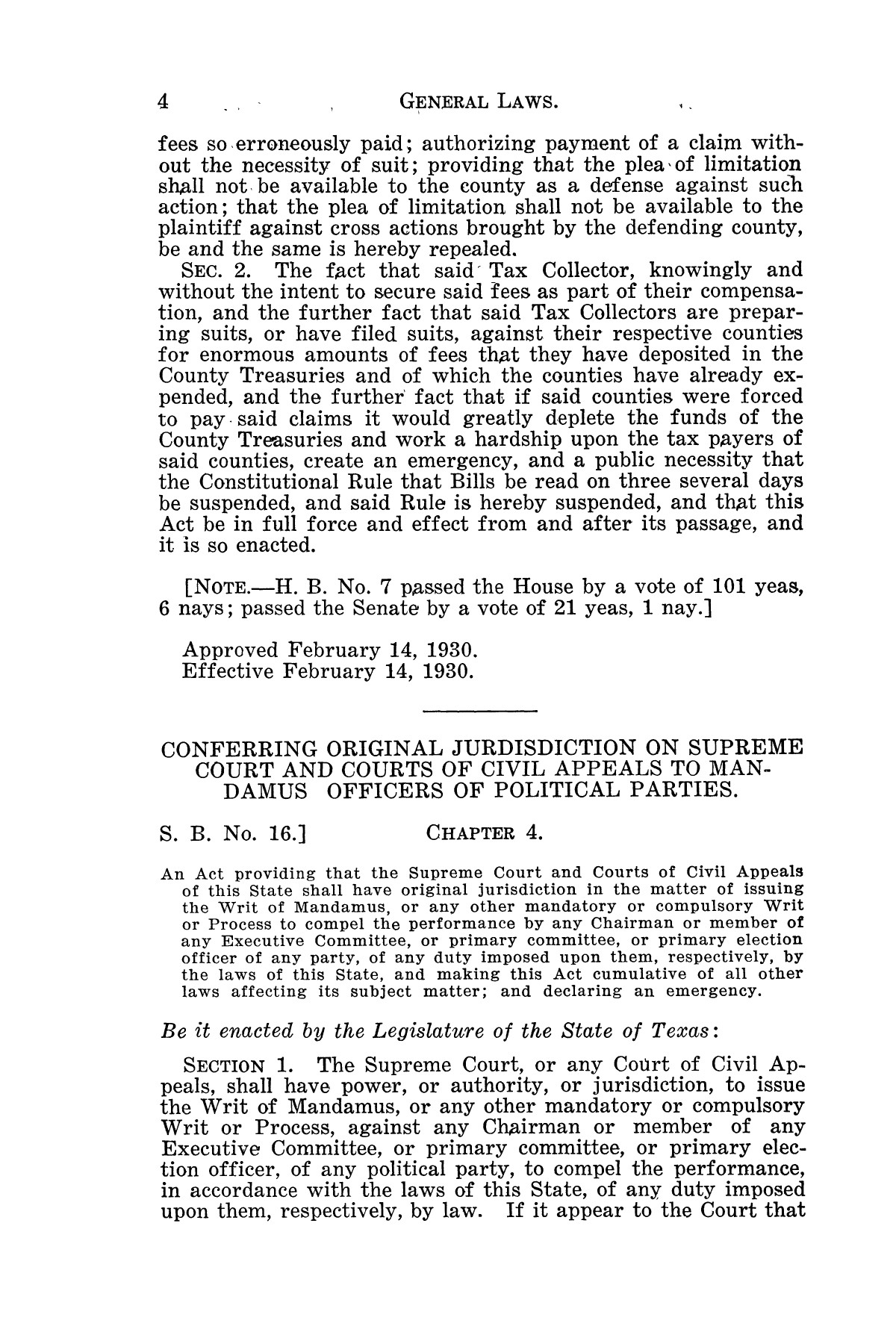 The Laws of Texas, 1929-1931 [Volume 27]                                                                                                      [Sequence #]: 16 of 1943