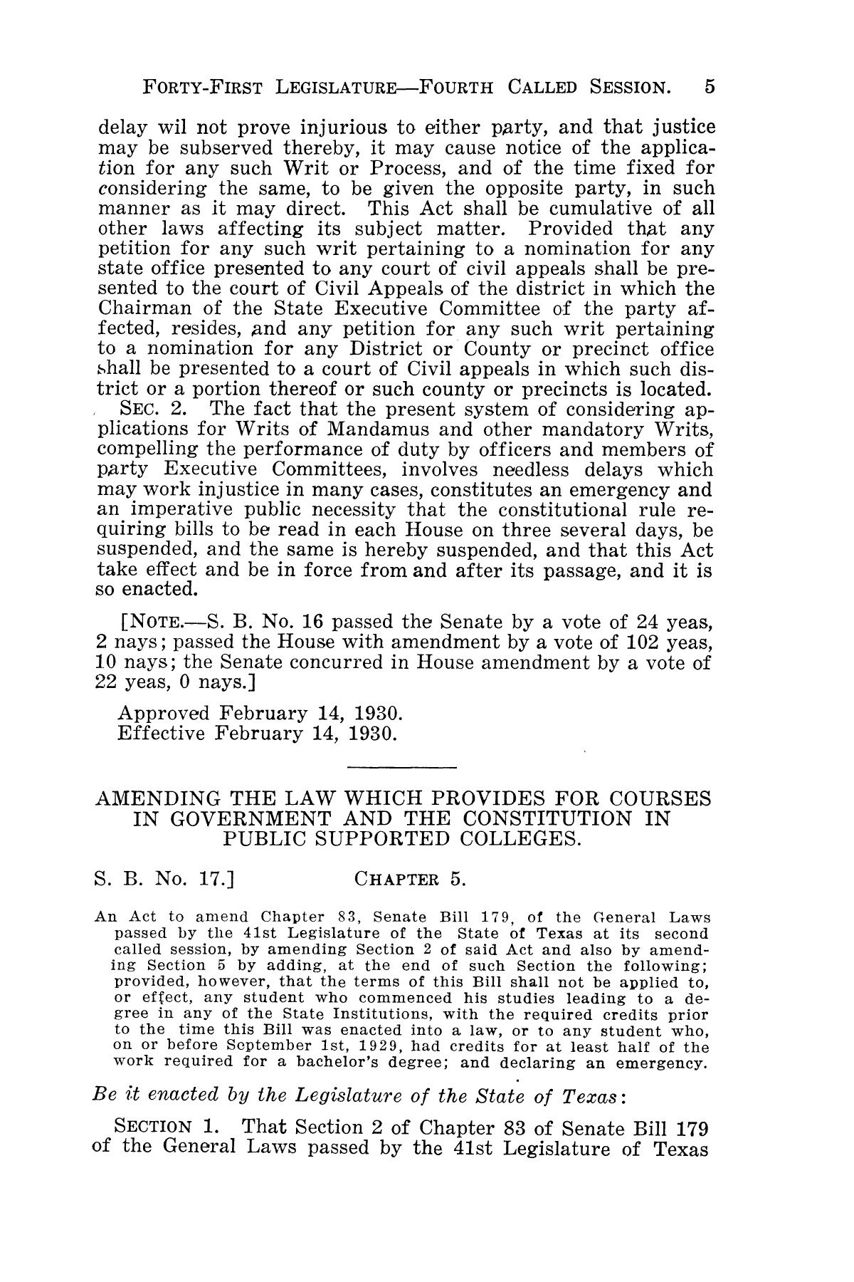 The Laws of Texas, 1929-1931 [Volume 27]                                                                                                      [Sequence #]: 17 of 1943