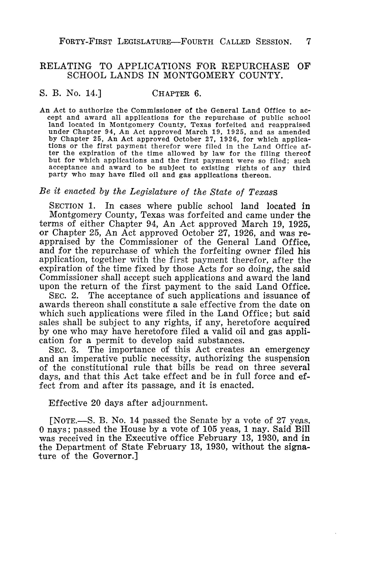 The Laws of Texas, 1929-1931 [Volume 27]                                                                                                      [Sequence #]: 19 of 1943