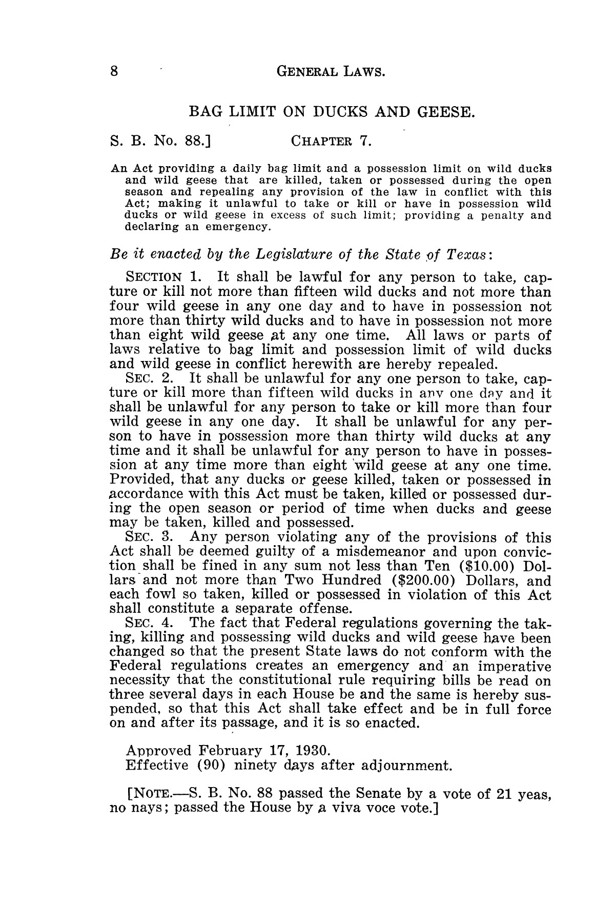 The Laws of Texas, 1929-1931 [Volume 27]                                                                                                      [Sequence #]: 20 of 1943