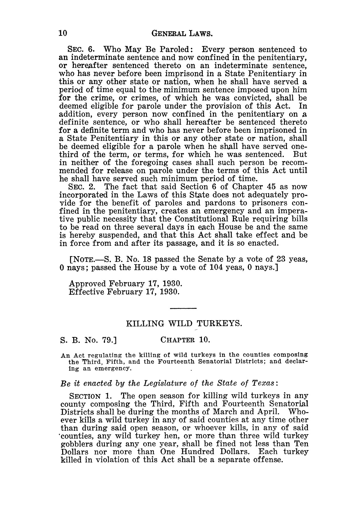 The Laws of Texas, 1929-1931 [Volume 27]                                                                                                      [Sequence #]: 22 of 1943