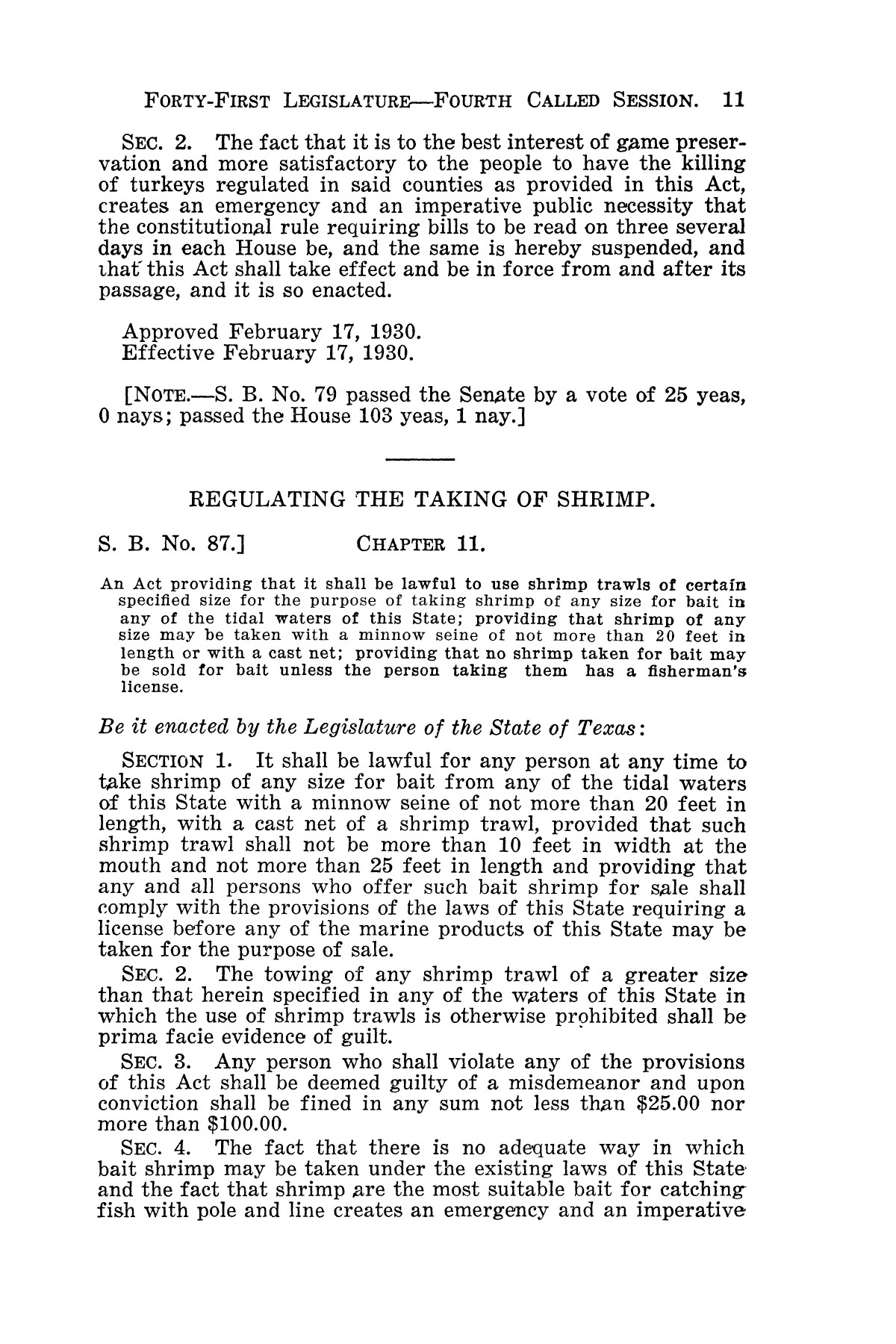 The Laws of Texas, 1929-1931 [Volume 27]                                                                                                      [Sequence #]: 23 of 1943