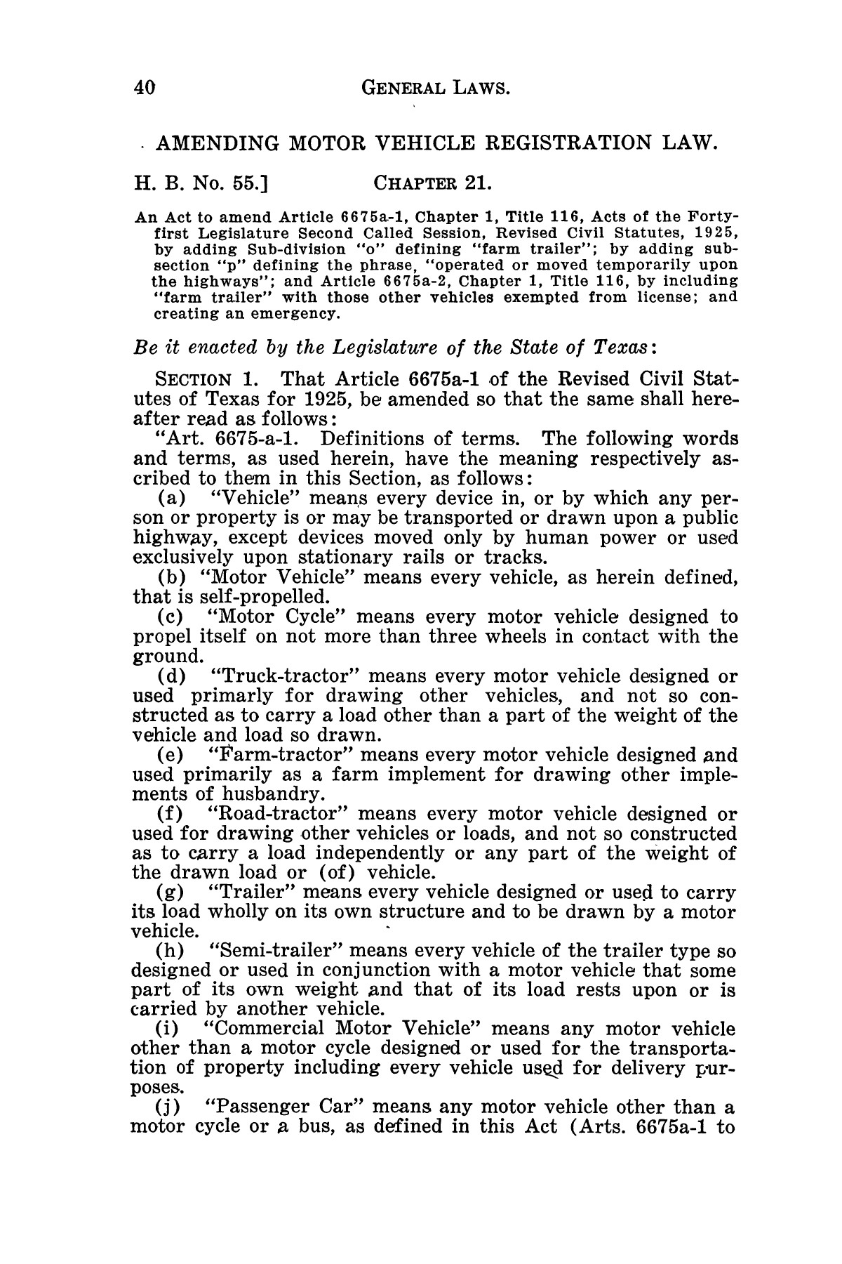 The Laws of Texas, 1929-1931 [Volume 27]                                                                                                      [Sequence #]: 52 of 1943