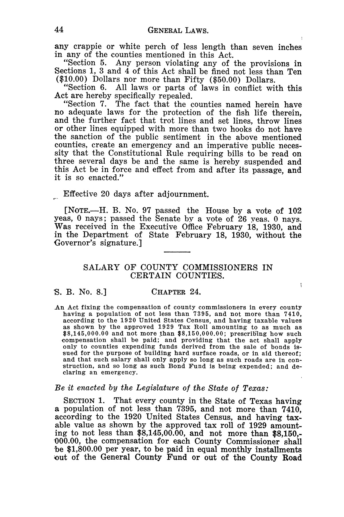 The Laws of Texas, 1929-1931 [Volume 27]                                                                                                      [Sequence #]: 56 of 1943