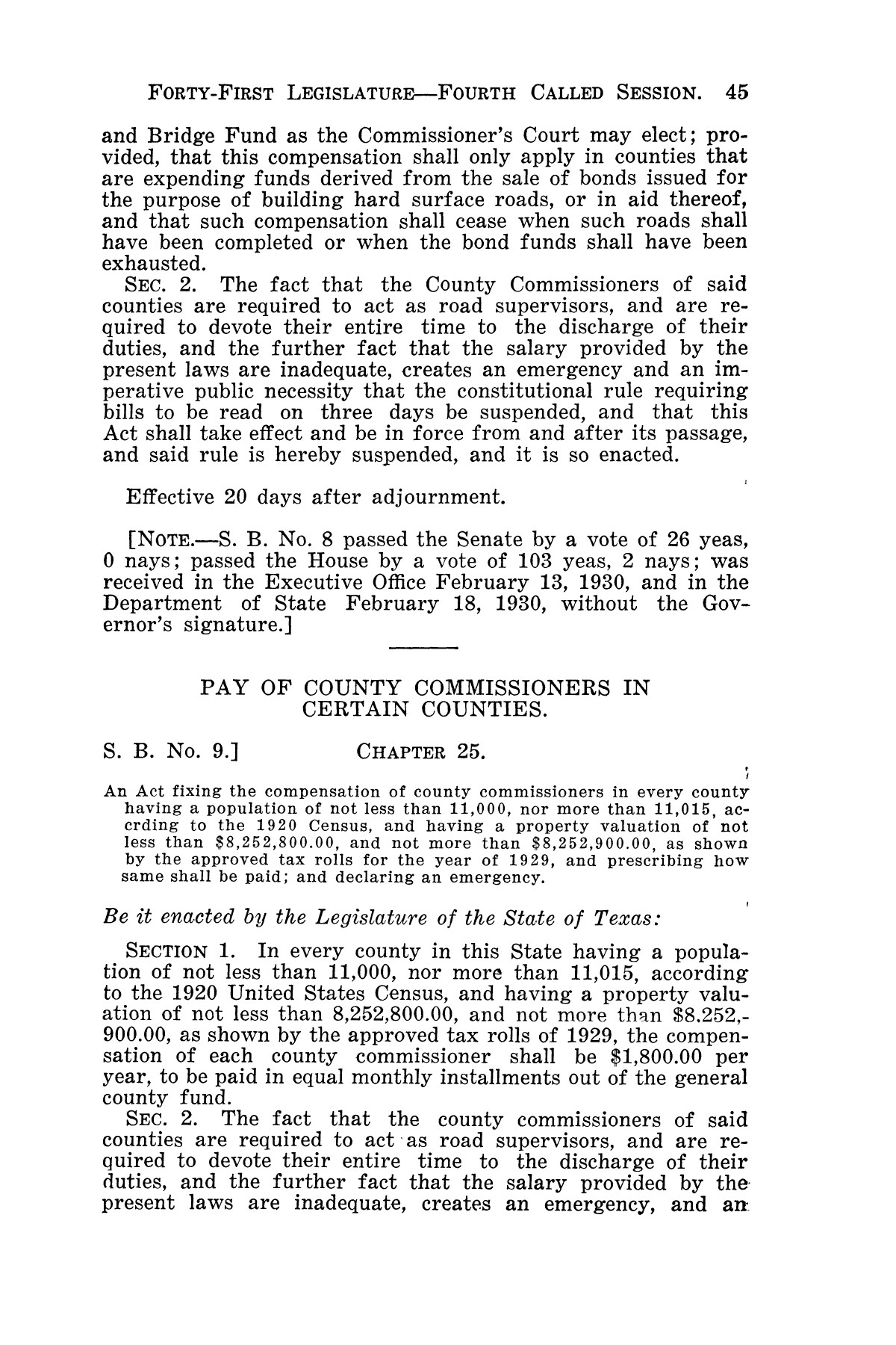 The Laws of Texas, 1929-1931 [Volume 27]                                                                                                      [Sequence #]: 57 of 1943