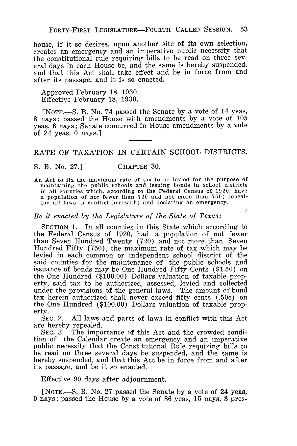 The Laws of Texas, 1929-1931 [Volume 27]                                                                                                      [Sequence #]: 65 of 1943