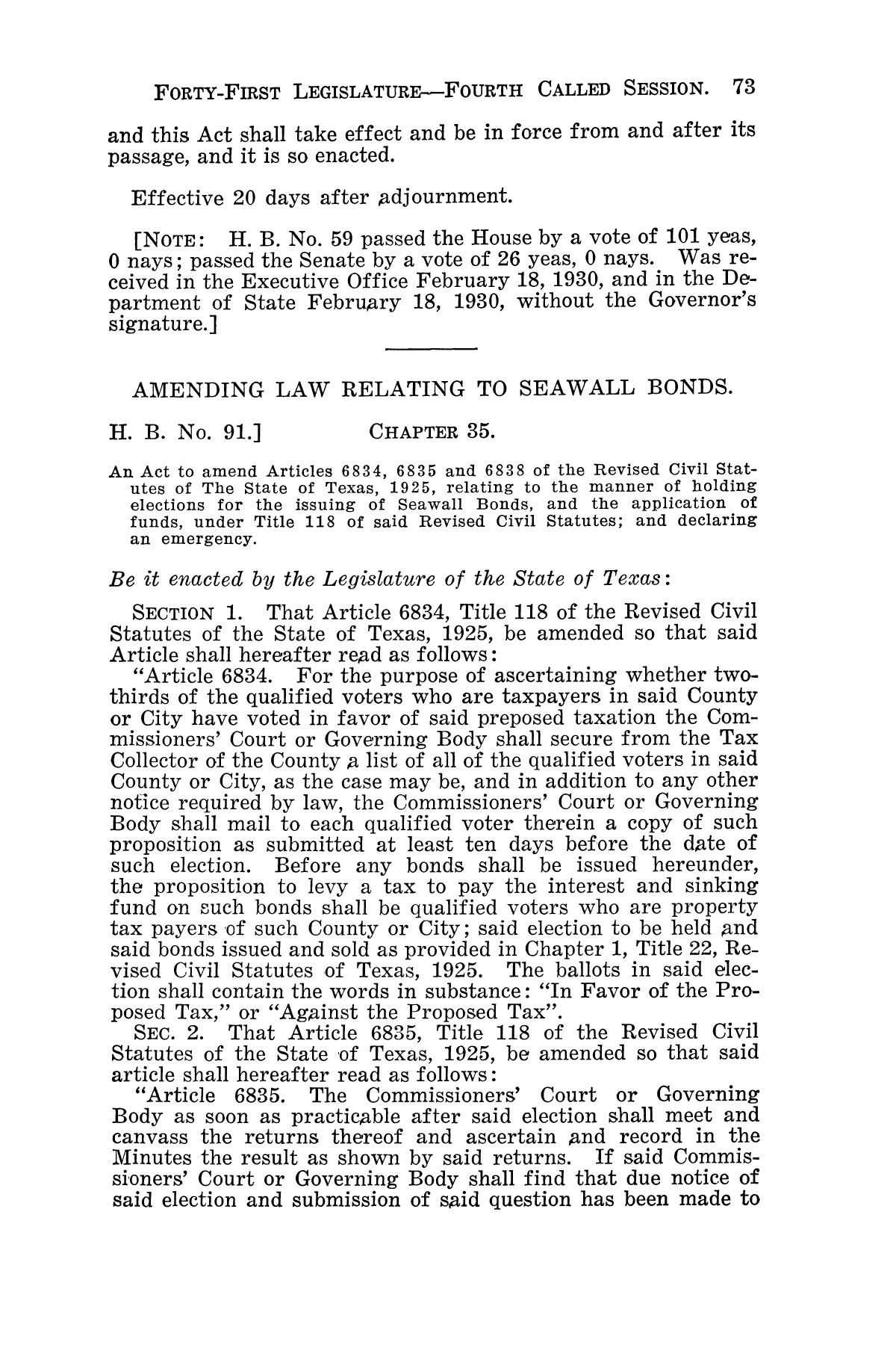 The Laws of Texas, 1929-1931 [Volume 27]                                                                                                      [Sequence #]: 85 of 1943