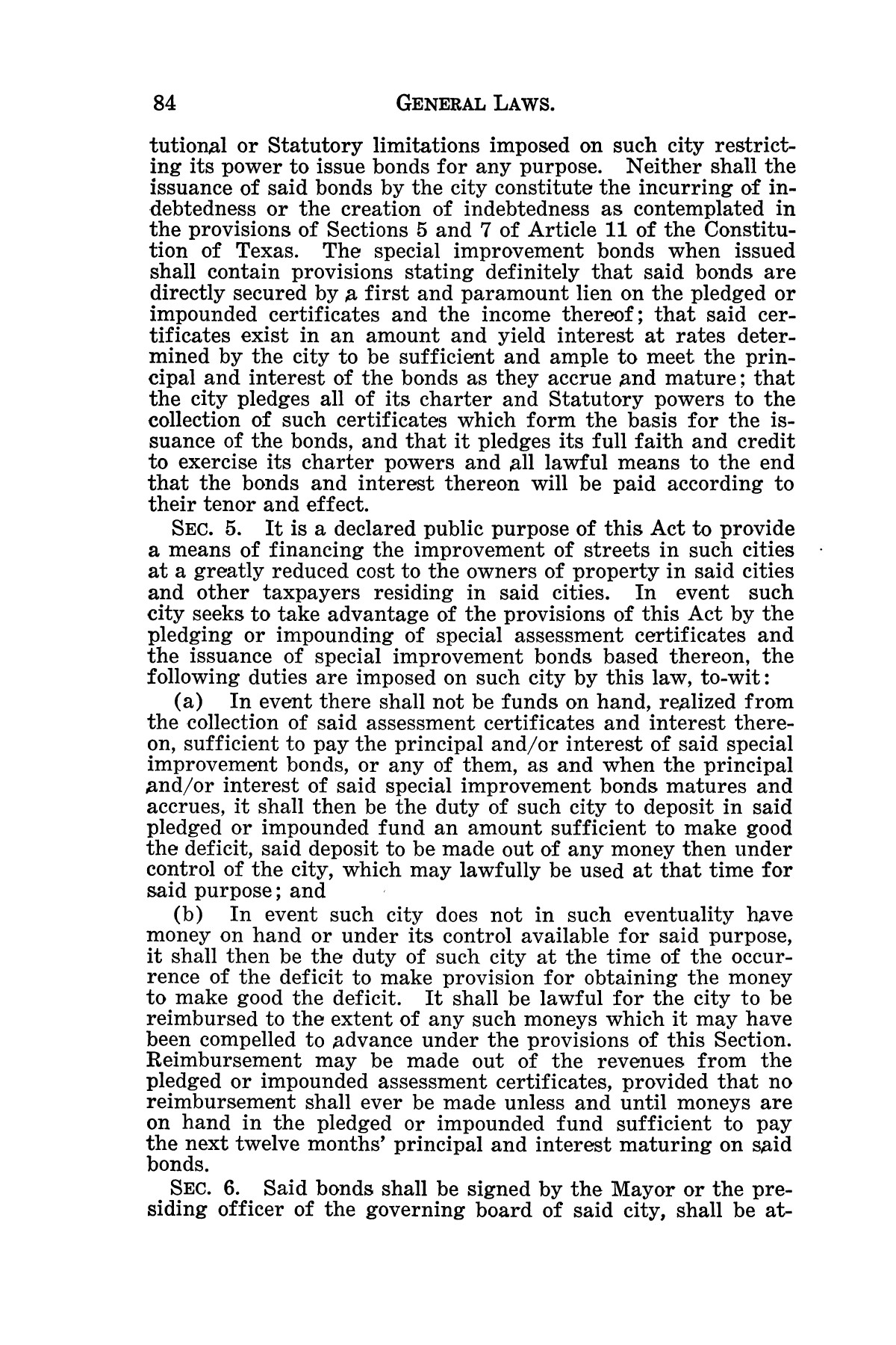 The Laws of Texas, 1929-1931 [Volume 27]                                                                                                      [Sequence #]: 96 of 1943