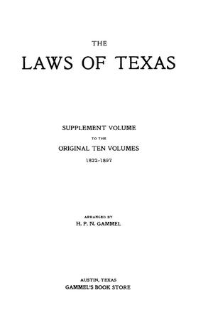 The Laws of Texas, 1929 [Volume 26]