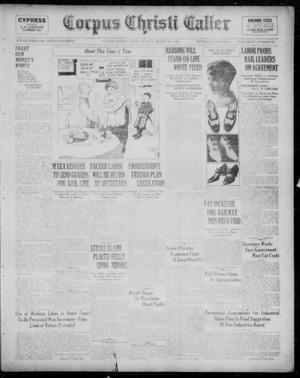 Primary view of Corpus Christi Caller (Corpus Christi, Tex.), Vol. 23, No. 28, Ed. 1, Sunday, March 20, 1921