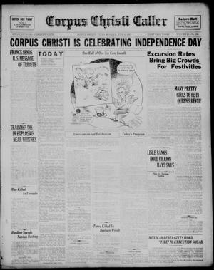 Primary view of object titled 'Corpus Christi Caller (Corpus Christi, Tex.), Vol. 23, No. 134, Ed. 1, Monday, July 4, 1921'.