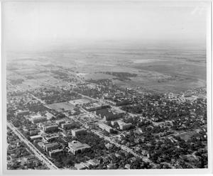 [Aerial Photograph of the North Texas State College Campus, 1940s]