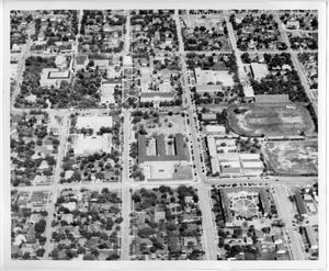 [Aerial Photograph of the North Texas State Teachers College Campus, 1940s]