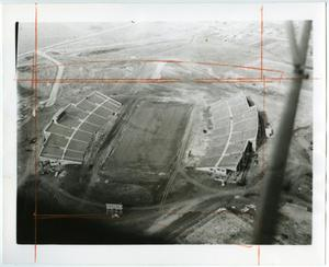 [Aerial Photograph of North Texas State College, Fouts Field Stadium, 1951]