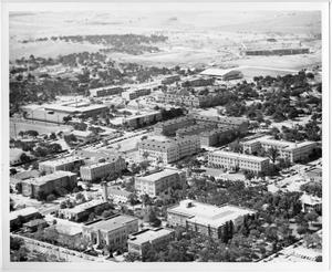 [Aerial Photograph of the North Texas State College Campus]