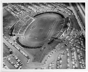 [Aerial Photograph of North Texas State College, Fouts Field Stadium, 1952]
