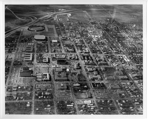 Primary view of object titled '[Aerial Photograph of the North Texas State University Campus]'.
