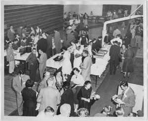 Primary view of object titled '[North Texas 1954 Homecoming alumni luncheon]'.