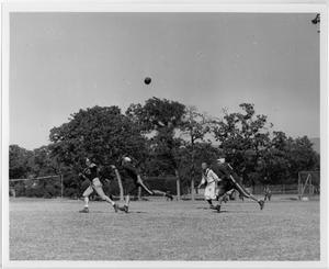 Primary view of object titled '[North Texas Football Game, around 1942]'.