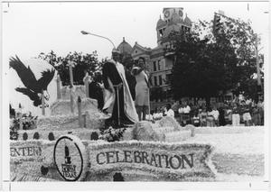 Primary view of object titled '[Photo of North Texas Homecoming Parade, 1990]'.