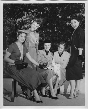 Primary view of object titled '[1954 North Texas Homecoming Queen candidates #1]'.