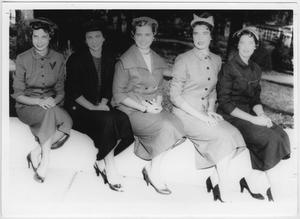 Primary view of object titled '[1955 North Texas Homecoming Queen and her court #1]'.