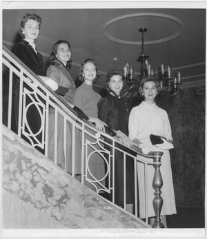 Primary view of object titled '[1956 North Texas Homecoming Queen candidates]'.