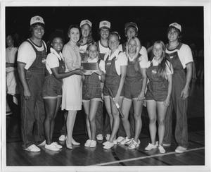 Primary view of object titled '[North Texas State University Cheerleaders, 1974]'.