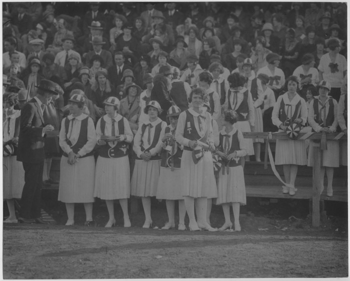 North Texas Green Jackets at Athletic Event 1926] - The Portal to