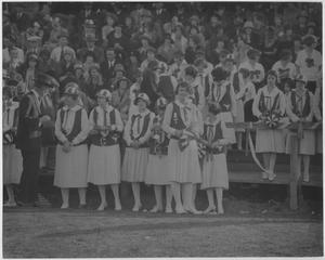 Primary view of object titled '[North Texas Green Jackets at Athletic Event, 1926]'.