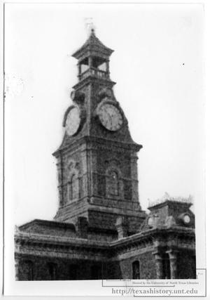 Primary view of object titled 'Clay County Courthouse Clock Tower'.