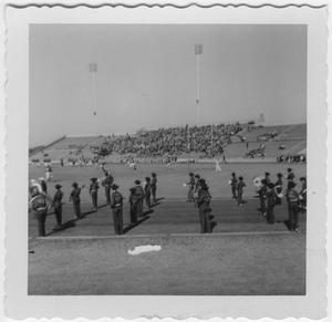 Primary view of object titled '[1955 North Texas State College Homecoming Game]'.