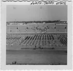 [1955 North Texas State College Homecoming Half-time Rehearsal]