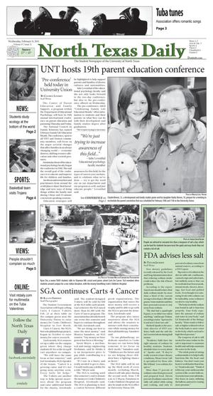 Primary view of object titled 'North Texas Daily (Denton, Tex.), Vol. 97, No. 11, Ed. 1 Wednesday, February 9, 2011'.