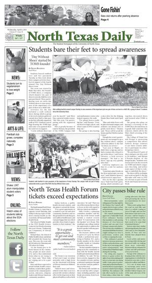 North Texas Daily (Denton, Tex.), Vol. 97, No. 38, Ed. 1 Wednesday, April 6, 2011