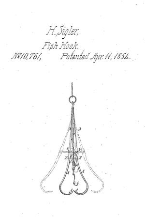 Primary view of object titled 'Improvement in Fish-Hooks.'.
