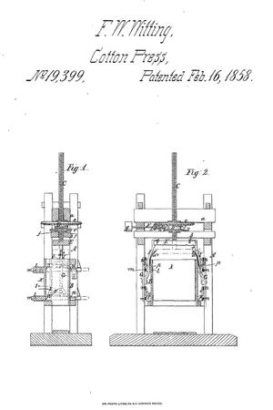 Primary view of object titled 'Improvement in Cotton-Presses.'.