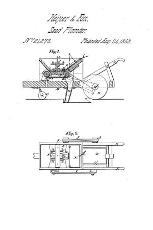 Primary view of object titled 'Improvement in Seeding-Machines.'.