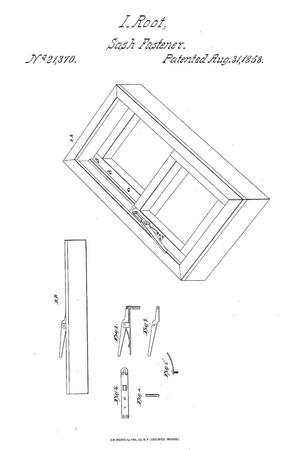 Primary view of object titled 'Window-Fastener.'.