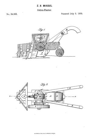 Primary view of object titled 'Improvement in Machines for Planting Cotton-Seed.'.