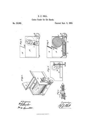 Primary view of object titled 'Improvement in Feeders for Cotton-Gins.'.