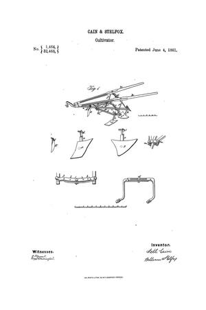Primary view of object titled 'Improvement in Cultivators.'.