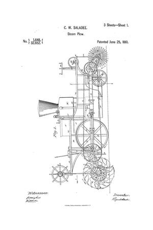 Primary view of object titled 'Improvment in Steam-Plows.'.