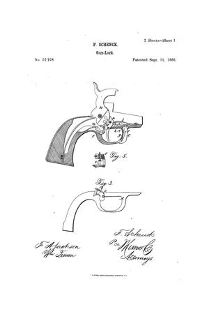 Primary view of object titled 'Improvement in Gun-Locks.'.