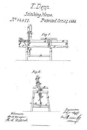 Primary view of object titled 'Improved Stitching-Horse.'.