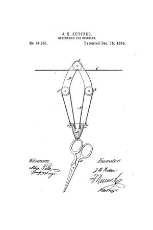 Primary view of object titled 'Improved Suspender for Scissors.'.