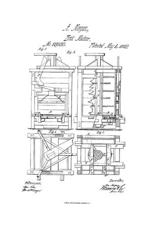 Primary view of object titled 'Improvement in Brick-Machines.'.