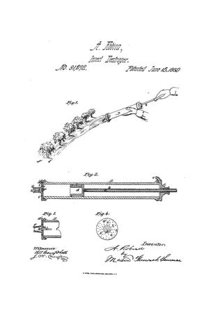 Primary view of object titled 'Improvement in Syringe for Destroying Cotton-Plant Worms.'.